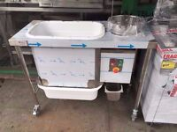 COMMERCIAL UNTOUCHED VERY NEW BREADING PREPARATORY TABLE RESTAURANT CAFE BAR KITCHEN CATERING BAKERY