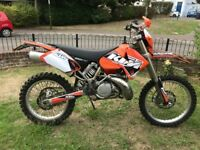 KTM EXC 250 2 STROKE 2004 - 12 MONTH MOT – Powerful bike