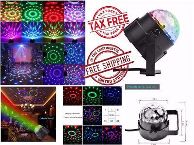 DJ Light Sound Activated Party Strobe Lights Disco Ball Club Ball Multi Colored - Multi Colored Disco Ball