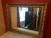 ORNATE GOLD FRAMED MIRROR - PERFECT