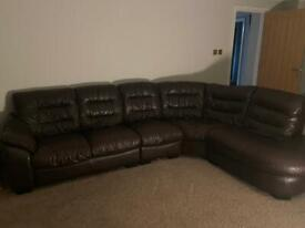 Corner sofa and electric recliner chair