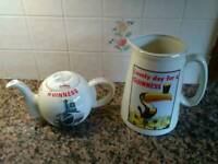 Guinness teapot and jug.