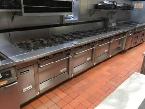 WOW! - Garland 24 Burner Gas Range w/4 Convection Ovens & Cook/ Cool down