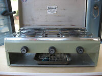 twin burner and grill cooker