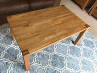 Solid Oak Coffee Table Large Wooden Table Excellent Quality