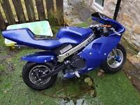 Mini moto blue new 50cc