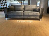 Fortune 3+2 sofa, plush velvet