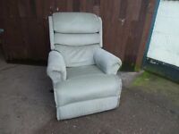 Metal Framed Green Recliner Armchair Delivery Available