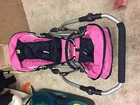 Play doll Double pushchair