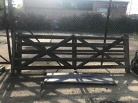 2 x 12ft wooden gates