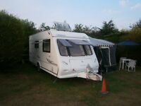 TOURING Elddiss Odyssey 2006 2berth with full awning and motor mover