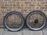 26 inch MTB wheels 7 speed rear cassette