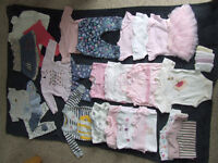 Bundle of baby clothes for girls 3-6 months (25 items)