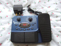 Behringer X V-AMP Electric Guitar Effects Pedal with mains PSU (Distortion Chorus Wah Delay etc)
