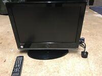 "Logik E19/13B-GB-TC-UK 19"" TV Very Good Condition with Remote"