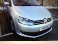 1 OWNER 2013 VW SHARAN S BLUEMOTION TDI 7 SEATER MPV 44K MILE IDEAL FOR TAXI PCO UBER FINANCE 204 PM