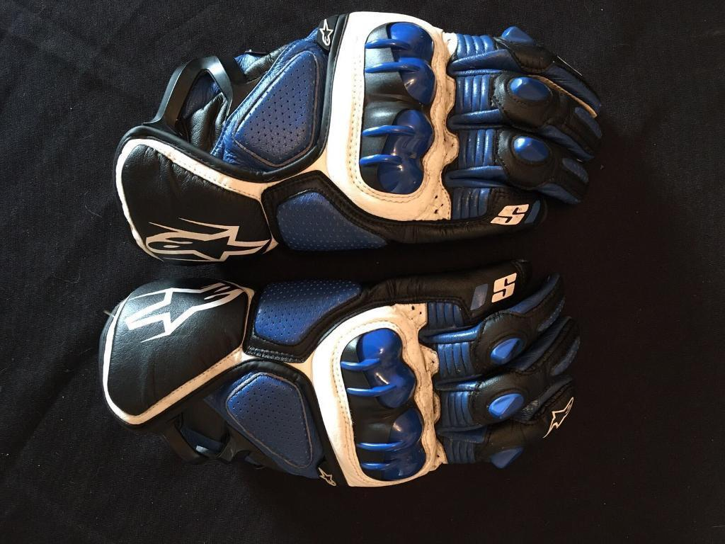 Xxl black leather gloves - Alpinestars S 1 Short Leather Gloves Size Xxl Blue Black And White In Brough East Yorkshire Gumtree