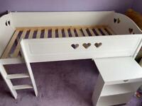 Habitat Mia Mid Sleeper Bed Frame with Desk