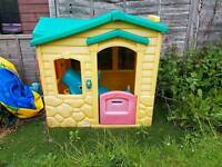 Little tikes playhouse with see saw and push along