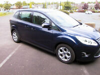 2013 FORD GRAND CMAX 1.6 DIESEL MPV FINISHED IN MET BLUE 7 SEATER FSH SUPERB CAR LOW MILES