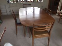 G-Plan Dining room table and chairs