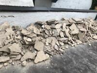 Rubble hardcore drainage rock bricks sub floor