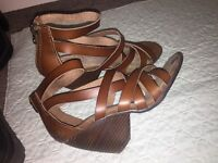Real leather heels - size 4