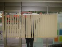 Hillary's Vertical Blinds - in good condition. (174cm x 115cm)