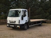 IVECO EUROCARGO 75E16 EEV AUTOMATIC LORRY FLAT BED TRUCK SCAFFOLD
