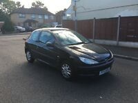 PEUGEOT 206 1.4 BLACK SUNROOF 2001 GOOD RUNNER