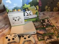 Xbox one s, 2 controllers& 5 games