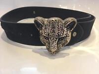 Women's leopard head belt size S