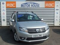 Dacia Logan MCV LAUREATE TCE (ONLY 5500 MILES) FREE MOT'S AS LONG AS YOU OWN THE CAR (silver) 2015