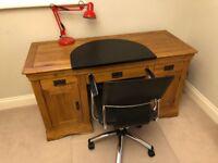 Rustic Solid Oak Computer Desk