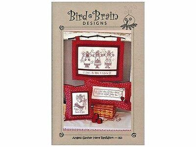 Angels Gather Here Redwork Pattern~Bird Brain Designs #163