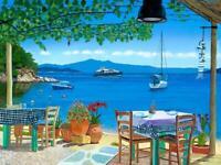 Skiathos Taverna Sklithri 3 A3 Giclee limited edition print