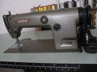 Brother flatbed industrial sewing machine with base in excellent working order
