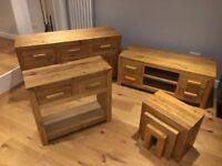 Immaculate Solid Oak Furniture Set - £750