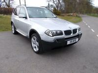 2004 54 BMW X3 2.5I SE 5 DOOR 4X4 METALLIC SILVER WITH FULL GREY LEATHER