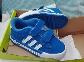 BOYS ADIDAS NEO_ brand new adidas neo trainers. Wrong size bought as present. Never worn. £15ono