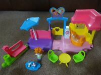 Little People Ice Cream Parlour with Accessories Only £3 pre school nursery toy