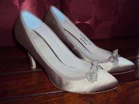 Faith high heel shoes, beige, size 5, excellent condition
