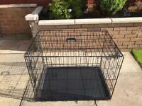 Double door dog cage medium