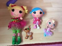 Lalaloopsy dolls + baby doll + frozen musical instruments + Disney princess microphone