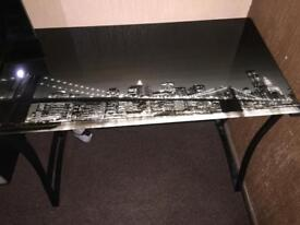 Brooklyn glass office desk black excellent condition
