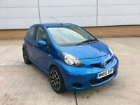 2011 TOYOTA AYGO 1.0 BLUE 5 DOOR NEW SHAPE LOW MILES FSH 1 OWNER NEW SHAPE