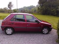 Peugeot 106 1.1L manual 5dr hatchback 2000 - economical run-around car