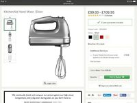 Kitchen Aid 9 Speed Hand Mixer Brand New Still in Box