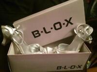blox silver evening sandals