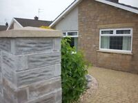 Freehold detached 2 bedroom bungalow overlooking fields in nottage porthcawl S.Wales